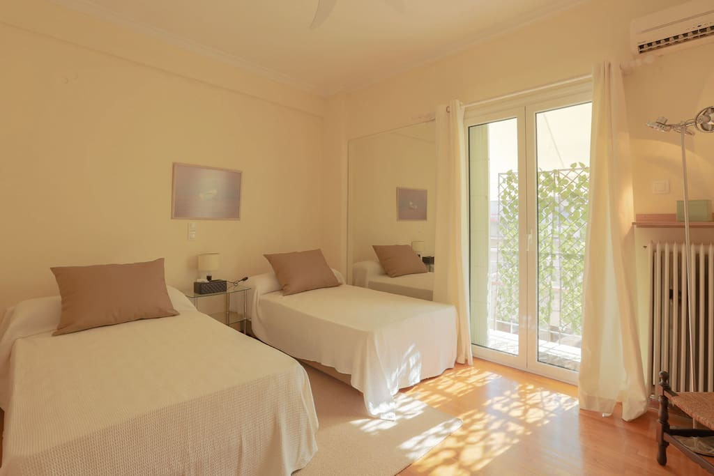 Gorgeous second bedroom with two single beds. All bedrooms are airconditioned plus roof fan and all needed amenities are provided