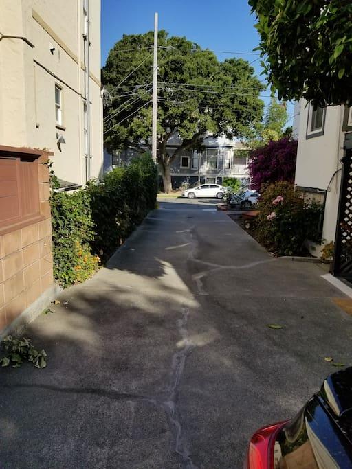 Driveway to walk up