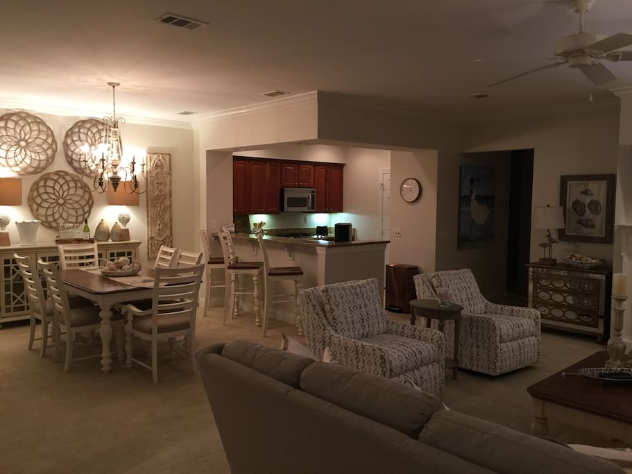 Living Room and Dining Room area