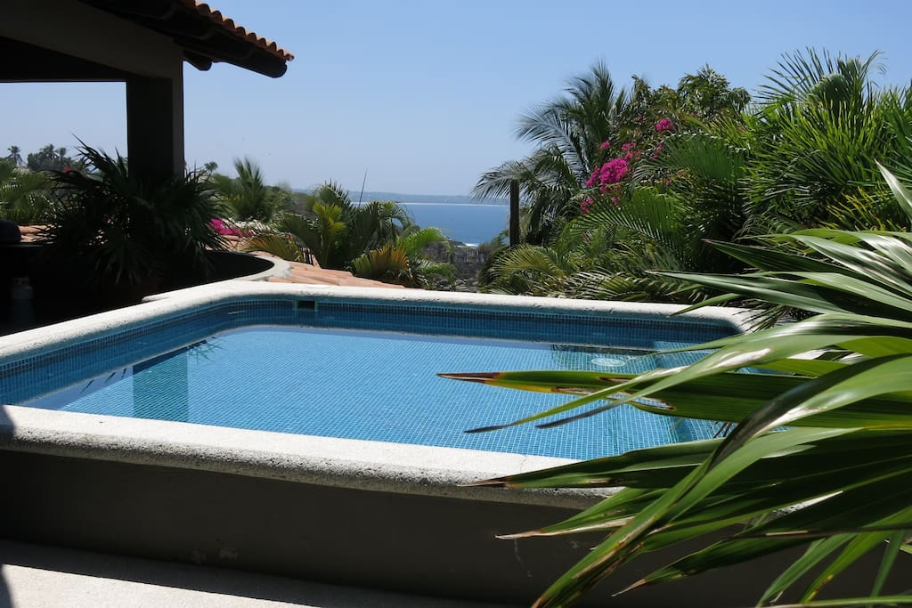 Private dipping pool with view of ocean