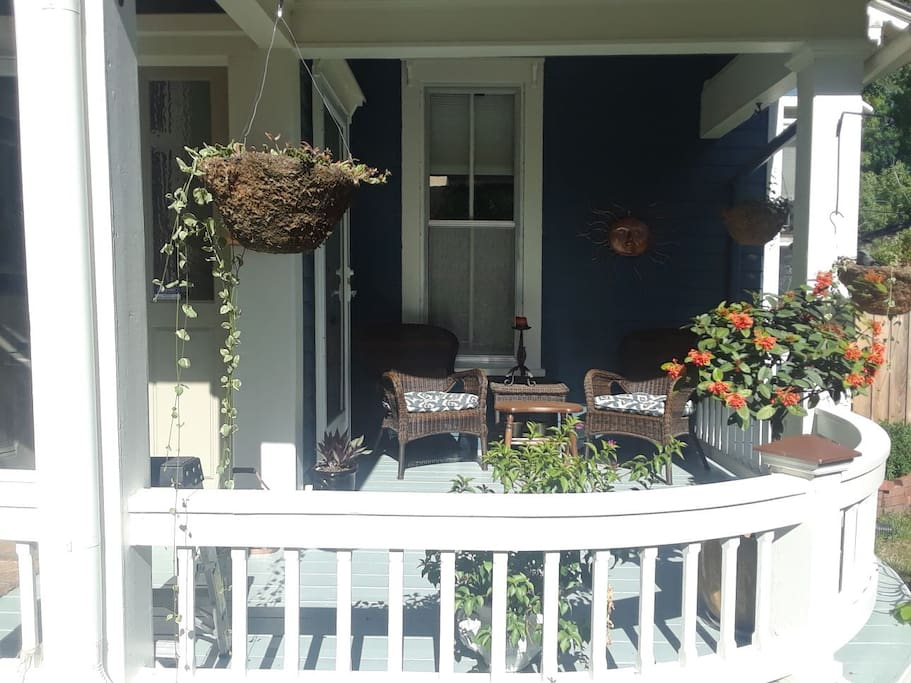 Our lovely front porch.