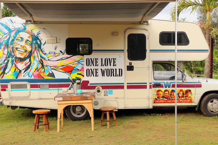 C 53 OKINAWA!絶景のカフェバー&HOSTELキャンピングカー宿泊。NEWオープン割引中。