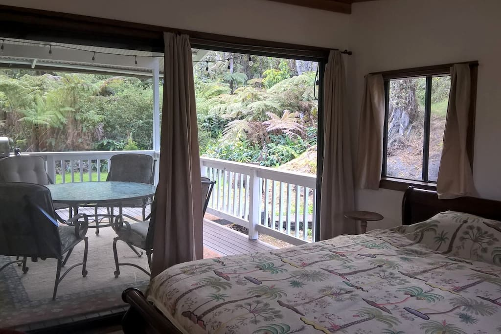 Master bedroom with private deck.