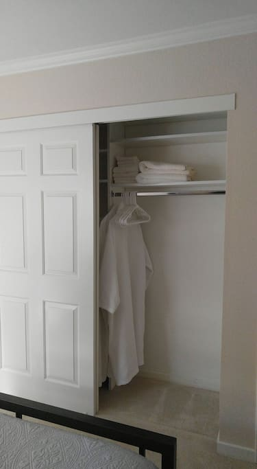 Closet with ample space to make yourself at home