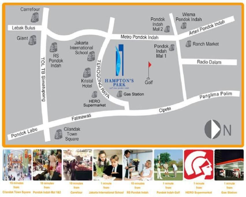 Pd.Indah+Cipete's Food Gasm+MRT (2018)+easy toll access+Direct Sudirman-P.Antasari non toll