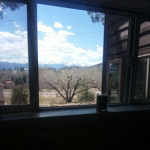 "Your view of Pike's Peak, from the aptly named, ""Pike's Peak Room."""