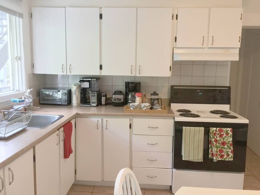 Kitchen with what you need for your visit