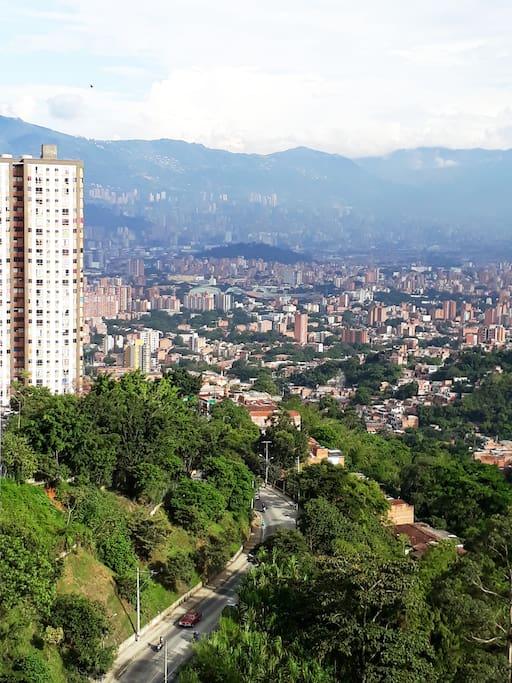 Panorama de la ciudad de Medellín