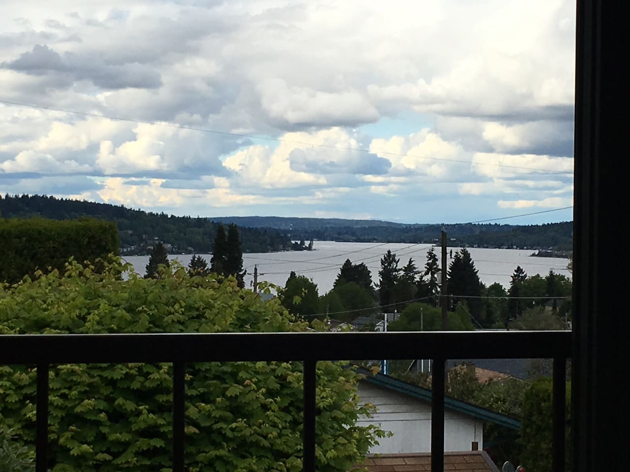 View of Lake Washington from the Deck