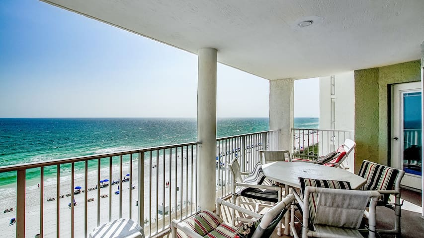 View of the gulf from your 7th floor balcony