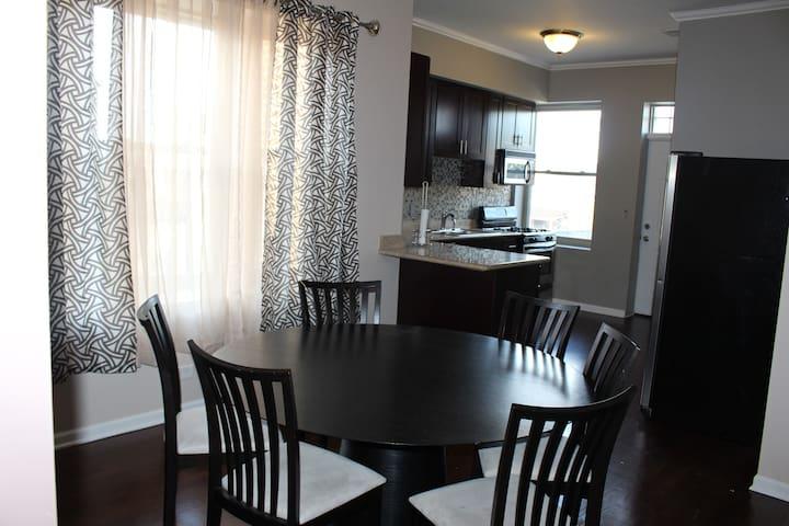 kitchen dining area seats 8