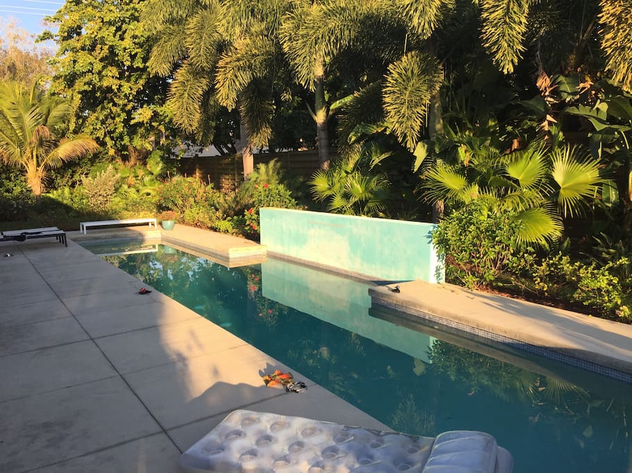 mid-century modern with solar heated lap pool - houses for rent in