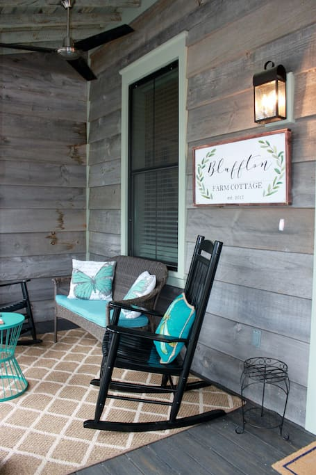 Front Porch and Sign