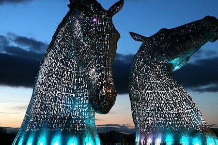 The Kelpies, Central Scotland plus - Falkirk