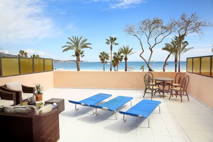 Sea view apartment with big terrace - Calvià - Daire