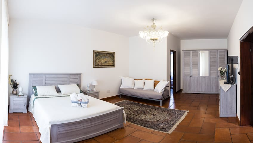 Modern room for four in villa