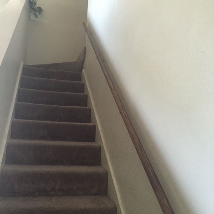 Room is upstairs
