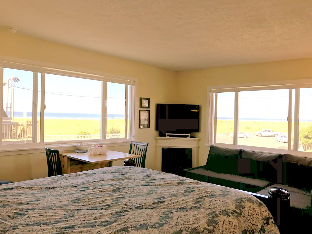 Light and Airy with Great Ocean Views from 2 Large Picture Windows!