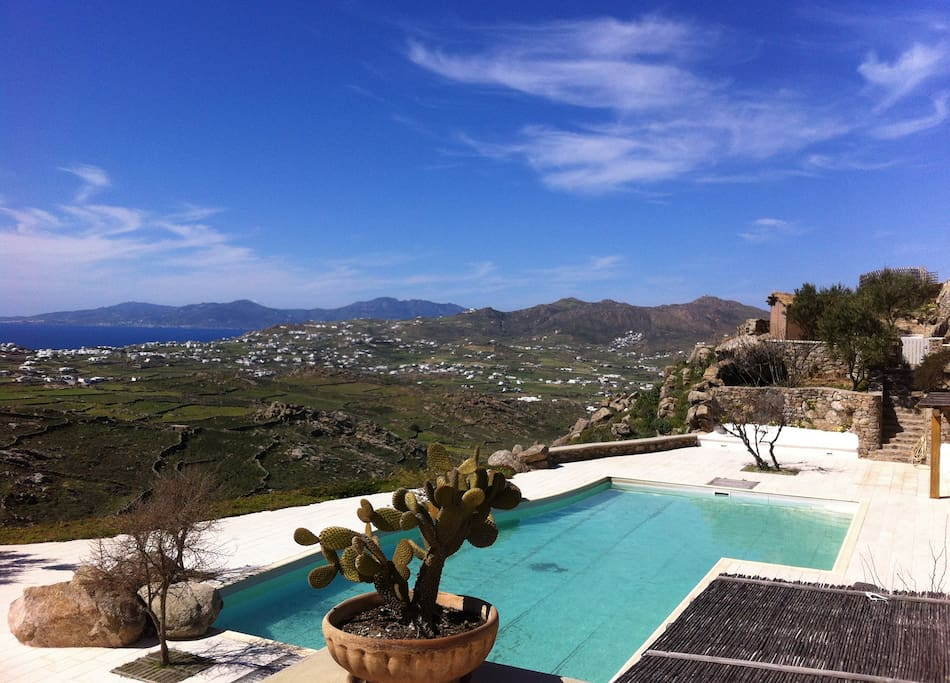 View of the communal pool from the terrace