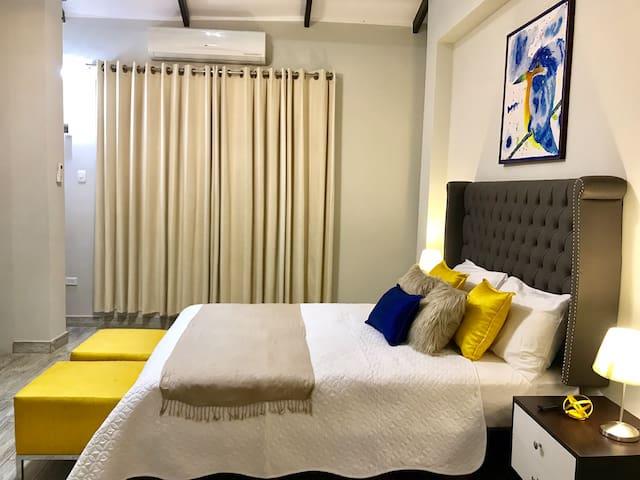 Habitación con aire acondicionado