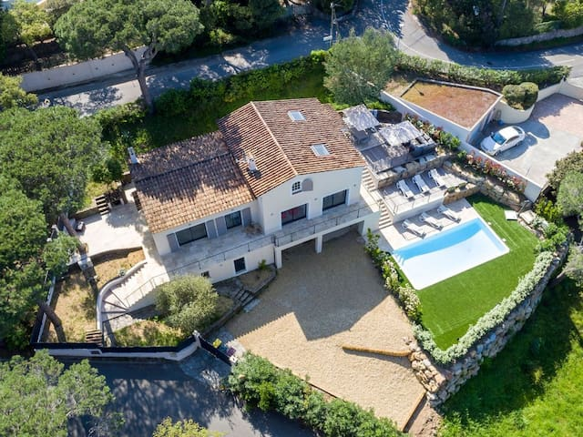 Areal view of the villa