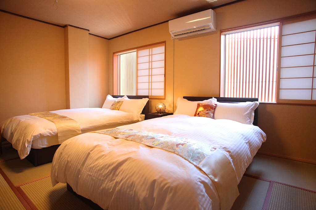 Bed room1 at 2F: two semi-double beds