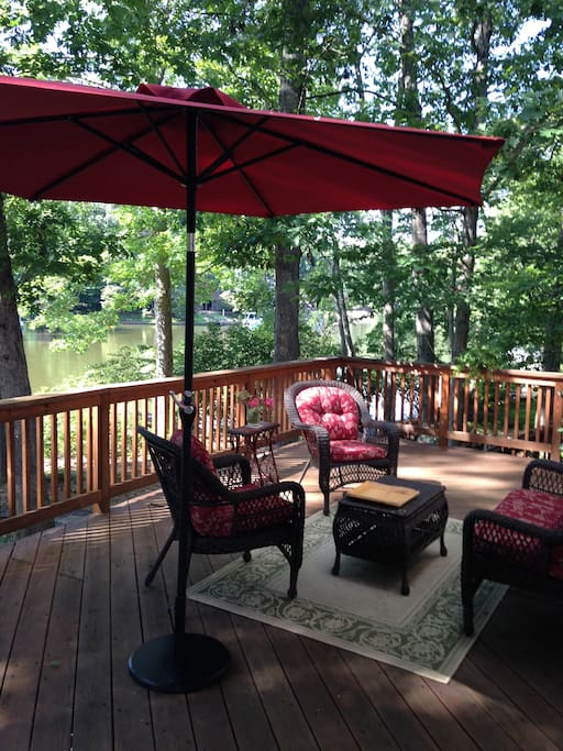 Cozy deck seating