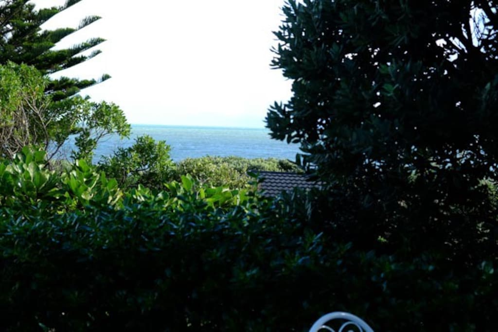 View of sea from deck