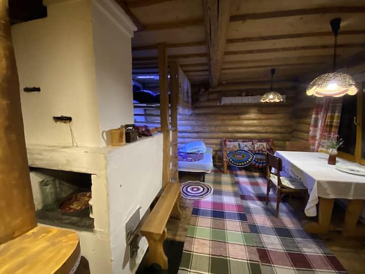 Эко-изба у леса с русской печкой: уютно, как дома