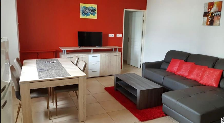 Grand appartement 2 chambres + Parking et Terrasse