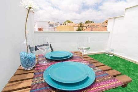 Confortable apartamento con terraza y barbacoa - Málaga
