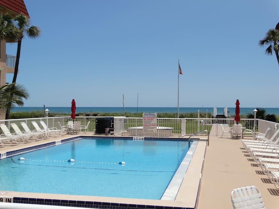 Free use of HEATED BEACHFRONT Swimming Pool!