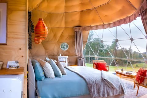 Luxury Small Town Glamping Domes