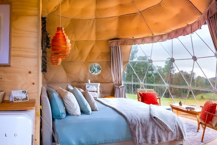Luxury Small Town Glamping Domes in the Vineyards