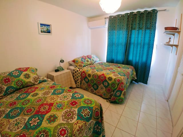 Bedroom 3 - Double and a Single bed, with a brand new air conditioner.