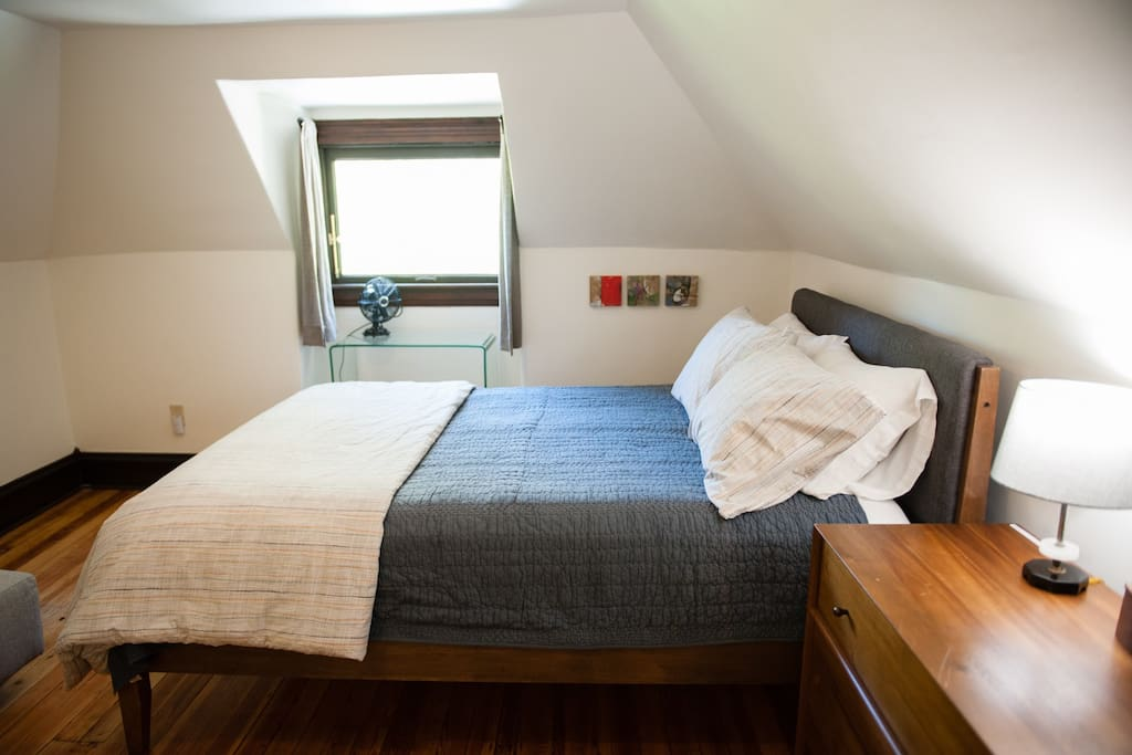 Second bedroom has a queen bed and a couch which can sleep an additional person