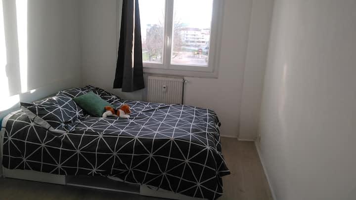 une belle chambre privée dans un appartement