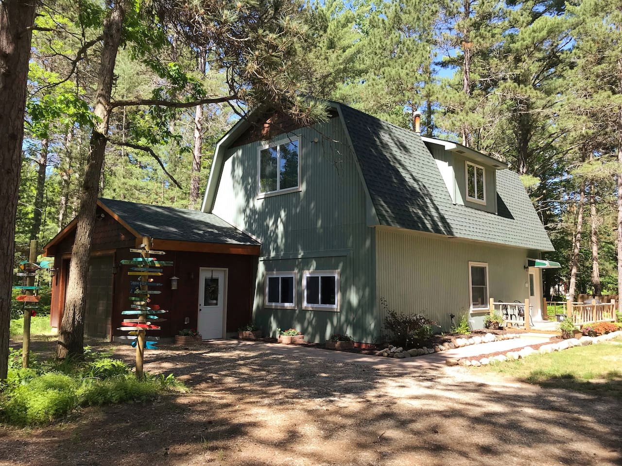 Welcome to our riverside cabin, a gem in the forest.