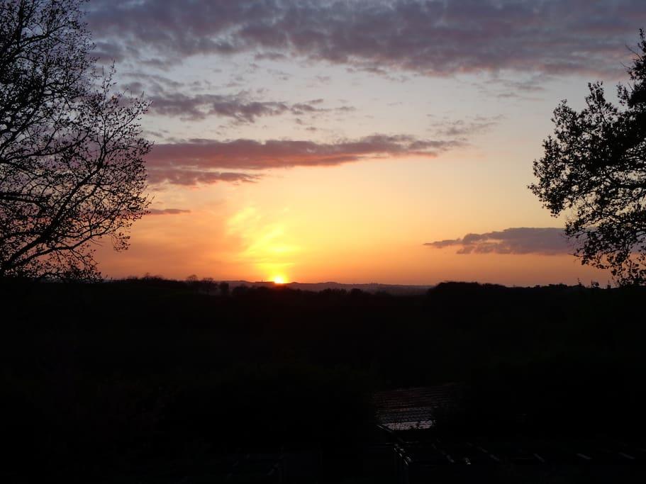wunderschöne Sonnenuntergänge des beaux couché de soleil