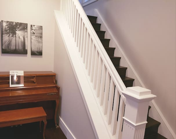 Your private room is up this set of stairs