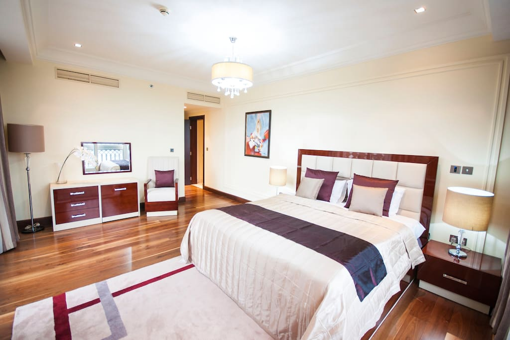 Master Bedroom with Two Balcony and full sea view