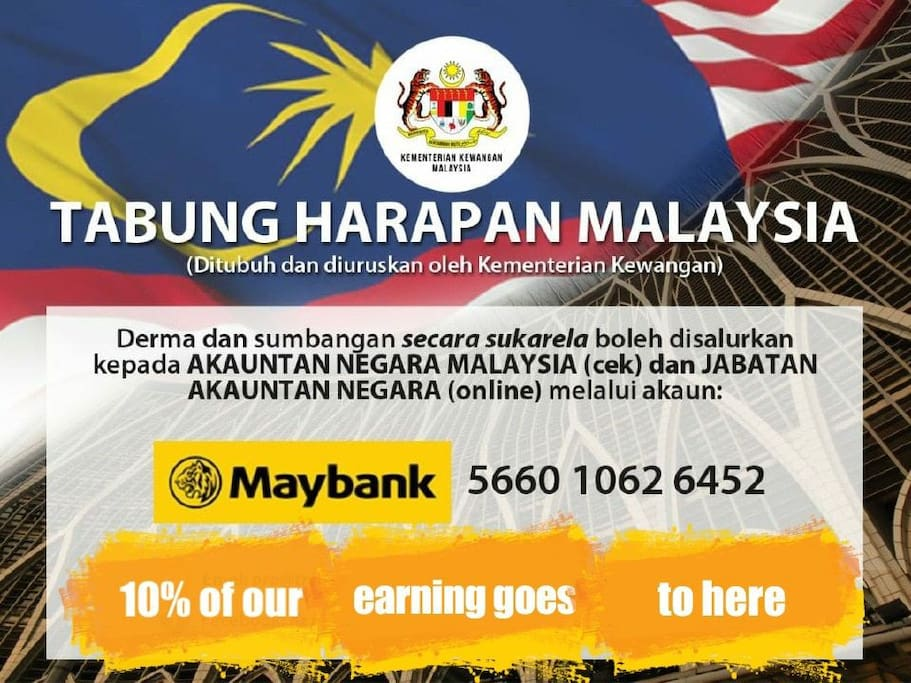Thank you for your contribution to rebuild a better Malaysia!
