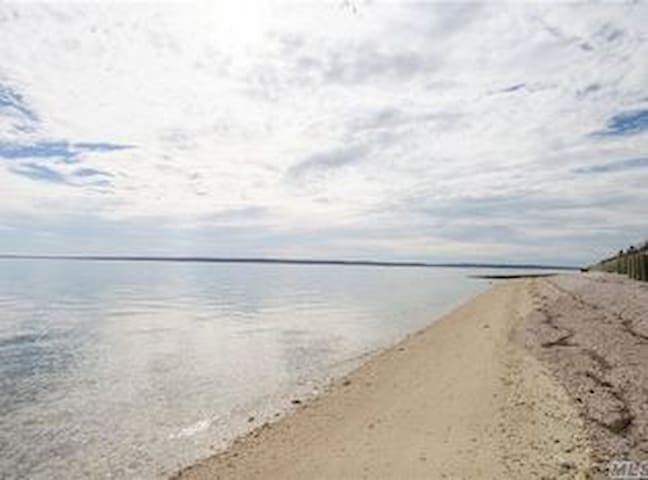 Private Beach Facing South Fork on Little Peconic Bay