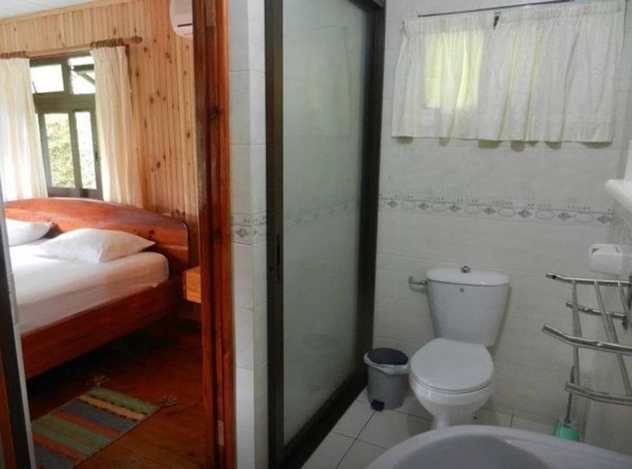 Private bathroom next to the room