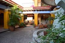 The interior courtyard