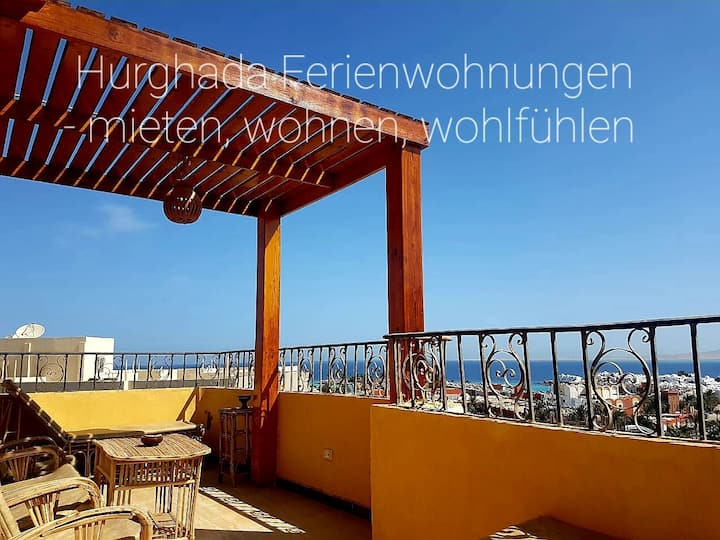 Wifi AC hot/cold German TV Sea view roof terrace