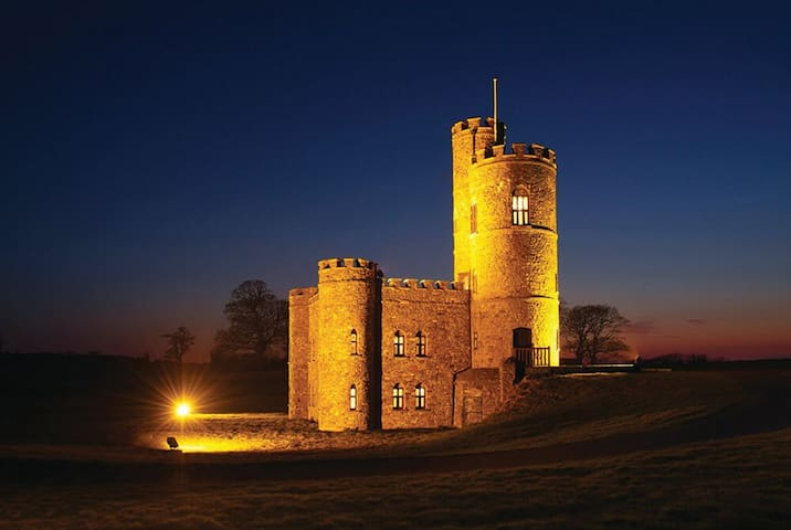 An enchanting Grade II listed 18th century bailey castle with wonderful 360 degree views