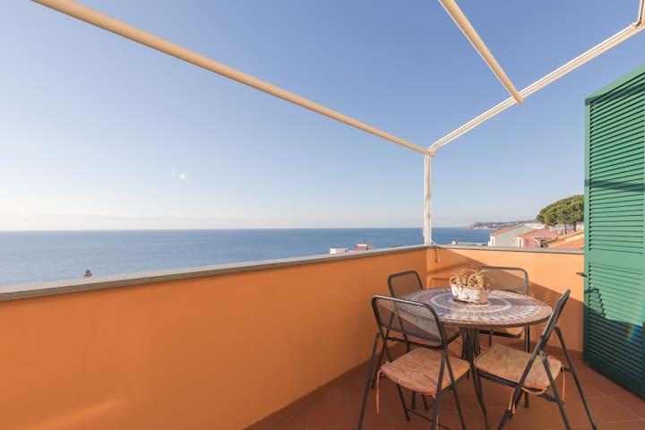 Residenza terrazza sul mare - Santo Stefano al Mare - Huoneisto