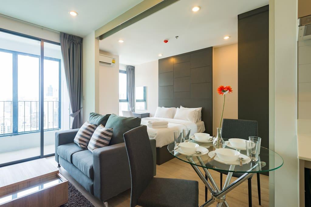 卧室客厅一体化超大空间 Studio/One Bedroom Designing