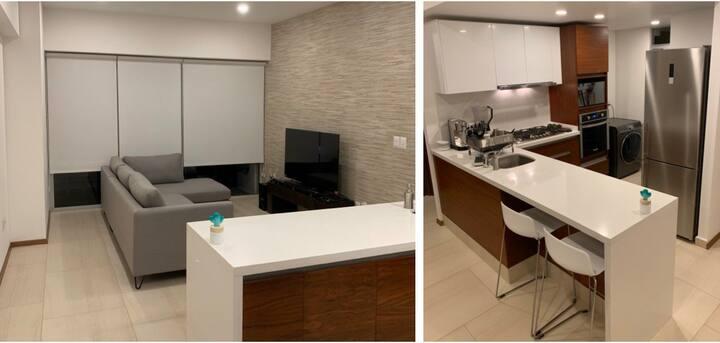 Gran departamento minimalista y moderno...